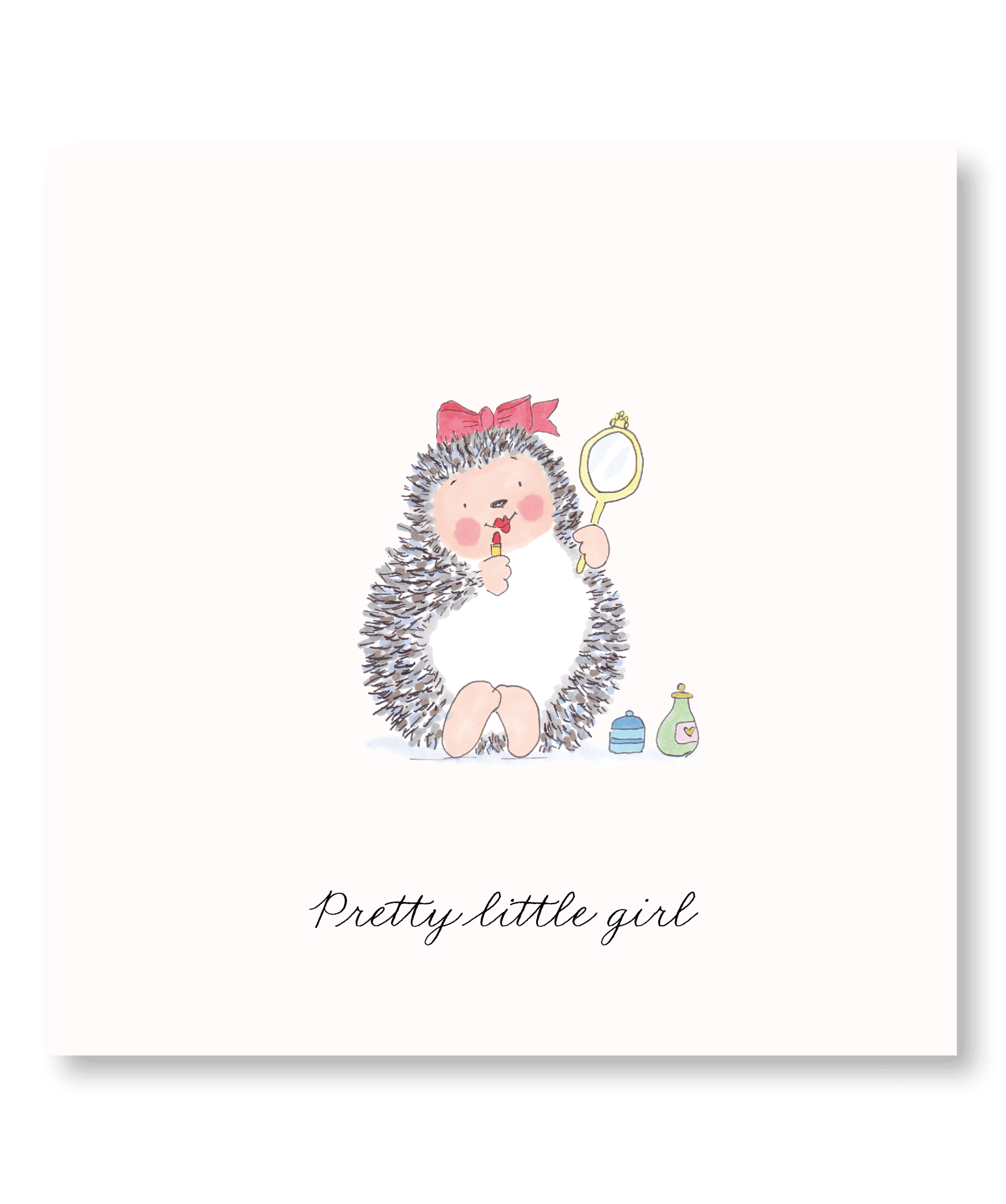 Cartes pour enfant : Pretty little girl